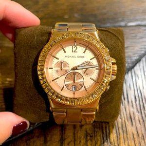 Michael Kors women's 43 mm rose gold watch